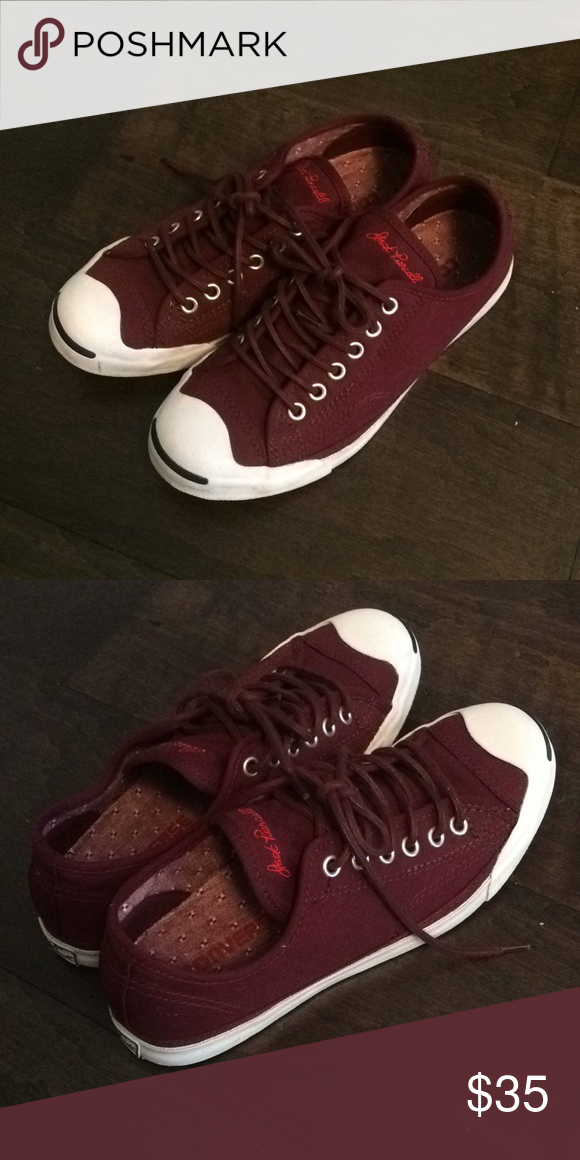 8dda31784768 Jack purcell converse burgundy sneakers 7 Size 7 converse jack purcell worn  only a couple times like new Converse Shoes Sneakers