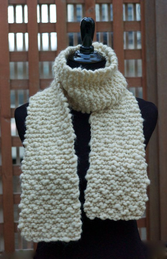 Knitting Kit - Beginner DIY. Knit your own scarf. Kit includes thick ...