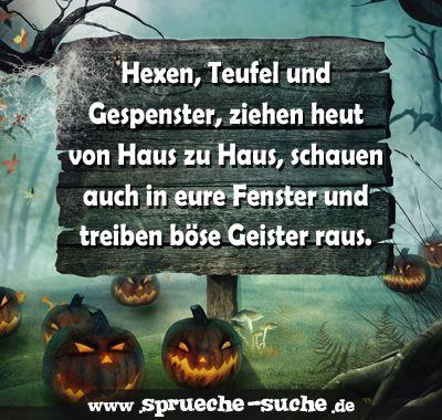 Hexen, Teufel und Gespenster | Halloweensprüche
