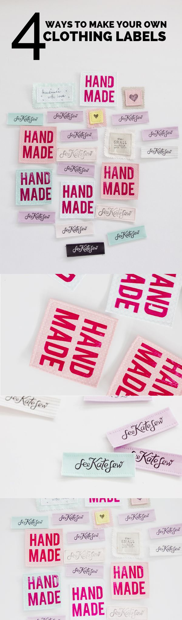 4 Ways To Make Your Own Clothing Labels With Hpx360 See Kate Sew Sewing Labels Make Your Own Labels Clothing Labels