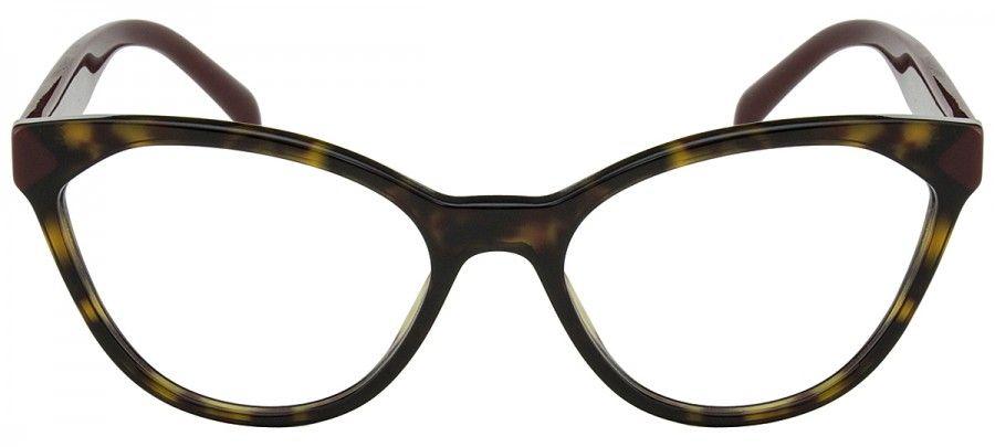 301caa7a6 Prada PR02TV - Tartaruga/Vermelho - USH1-O1/54 Oculos De Grau Prada