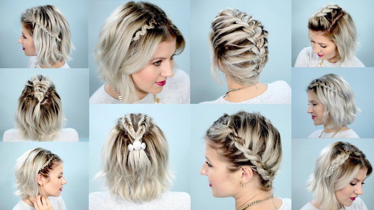 10 Easy Braids For Short Hair Tutorial Milabu Youtube Bestbraidedhairstyles Braided Hairstyles Easy Short Hair Tutorial Easy Braids