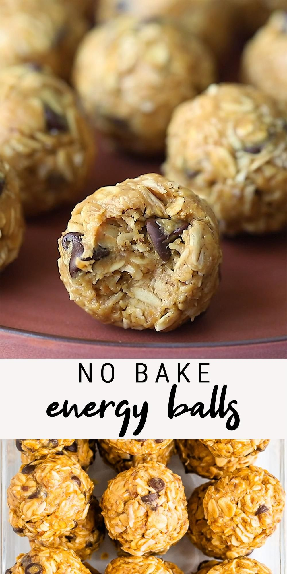 Healthy No Bake Peanut Butter Energy Balls | Choco
