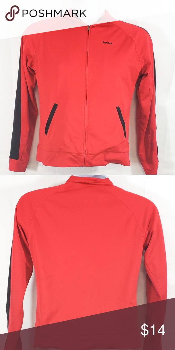 1dd0de39e62c Reebok Boys Red Black Zip Up Lightweight Jacket Reebok Boys Red and ...