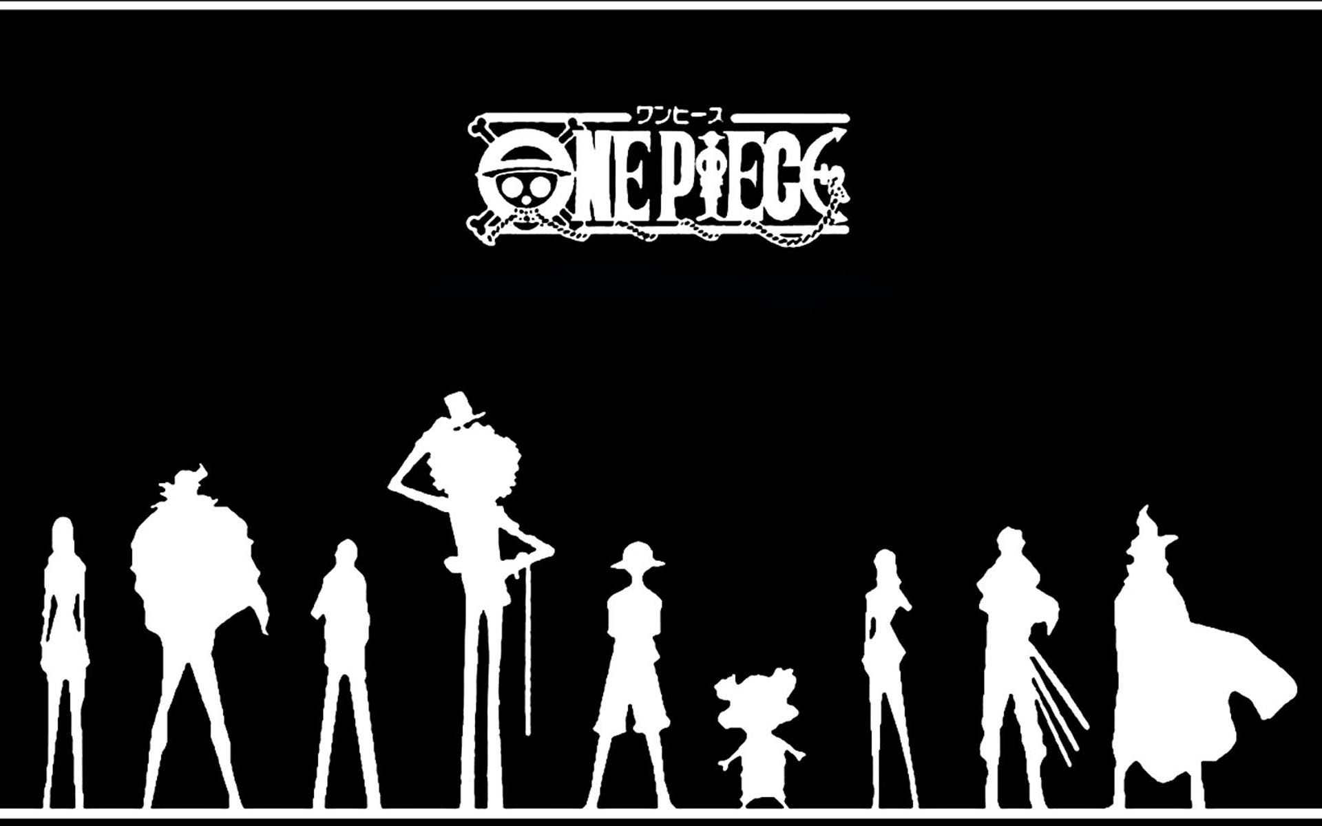 One Piece Wallpaper Black 114991 1920x1200 Jpg 1920 1200 Siluet Gambar Anime Gambar