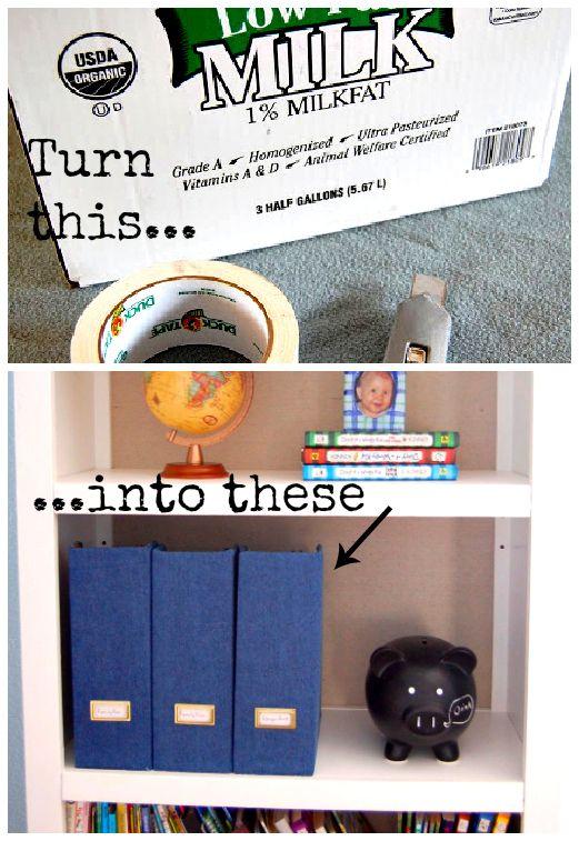 Upcycle: Milk Box Magazine Files... DIY