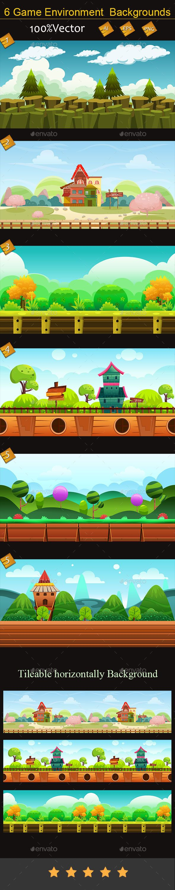 6 Game Environment  Backgrounds - Backgrounds Game Assets
