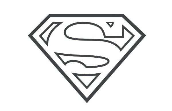 Superman Symbol Outline