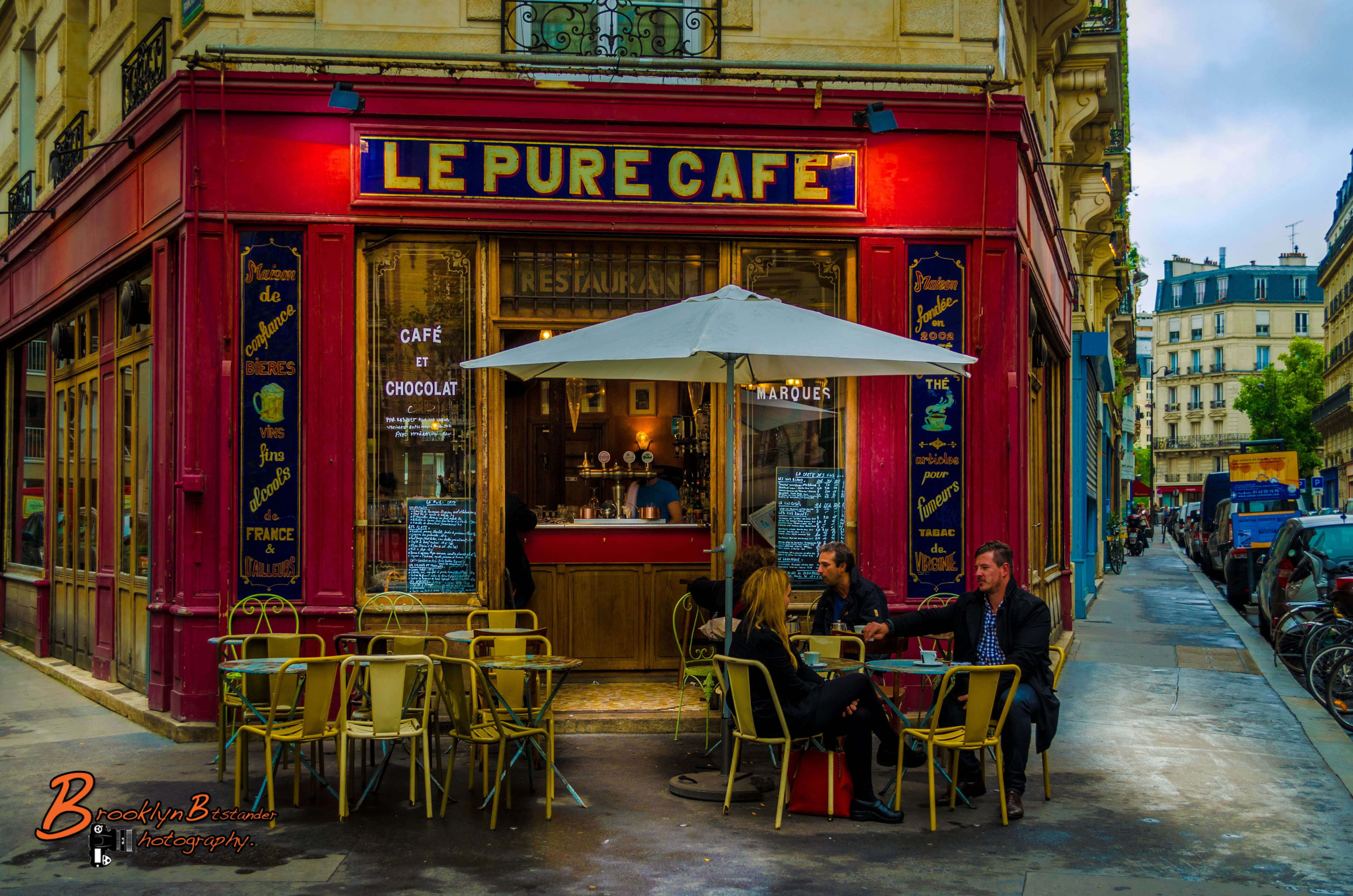 Today the streets of Paris , above the fantastic Le Pure Cafe ...