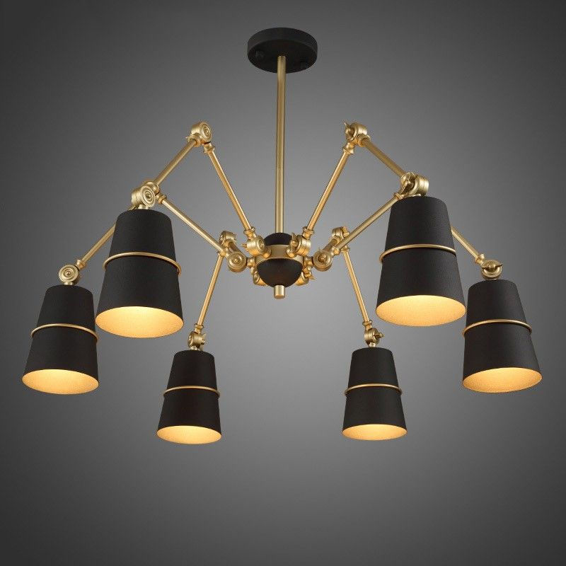 Doracy modern spider chandelier 3 light6 light metal cone light doracy modern spider chandelier metal cone light shade pendant light perfect for adding a contemporary feel to any room mozeypictures Image collections