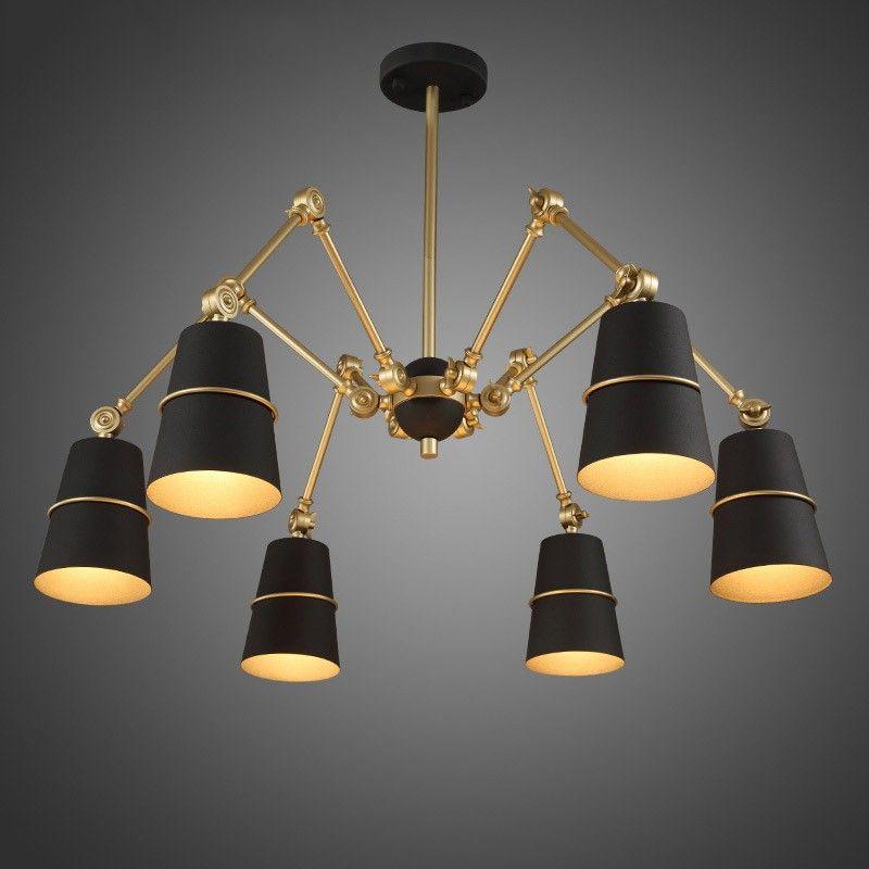 Doracy Modern Spider Chandelier 3-Light/6-Light Metal Cone Light ...