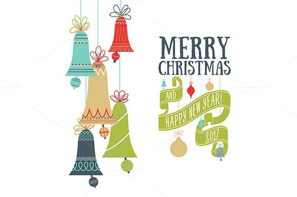 Vector Christmas greeting card @creativework247 Cards Pinterest - greeting card template