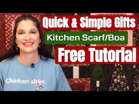 Quick Amp Simple Gifts Kitchen Scarf Boa No Pattern