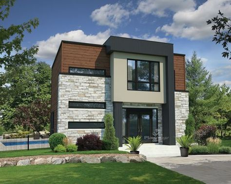 Cette maison à étage à lu0027architecture contemporaine très tendance