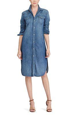 e486373e6a Denim Western Shirtdress - Polo Ralph Lauren Midi - RalphLauren.com ...