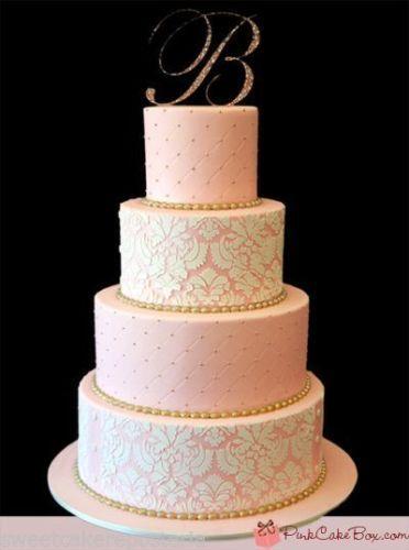 33+ Damask wedding cake stencils inspirations