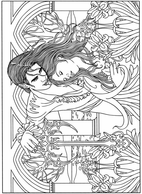 Willkommen bei dover publications 9538 32 ausmalbilder for Dracula coloring pages