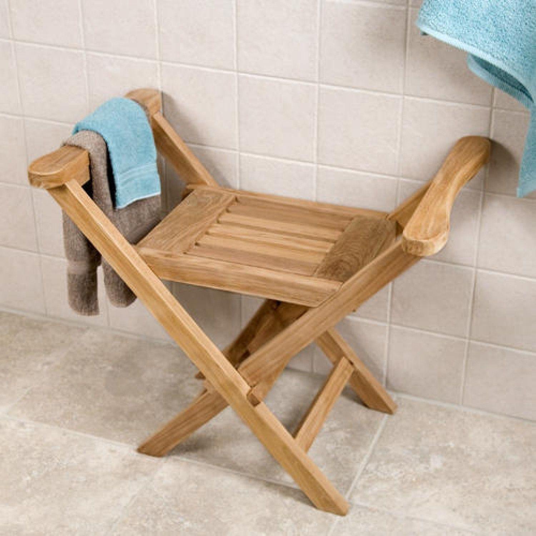 Deluxe Teak Shower Seat | Shower seat, Teak and Bathroom accessories