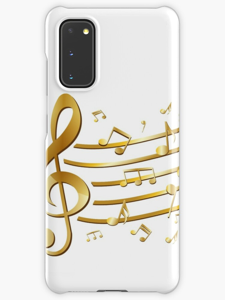 Gold Musical Note Staff Clef On White Background Millions Of Unique Designs By Independent Artists Find Your Thing Music Notes Musicals Music Symbols