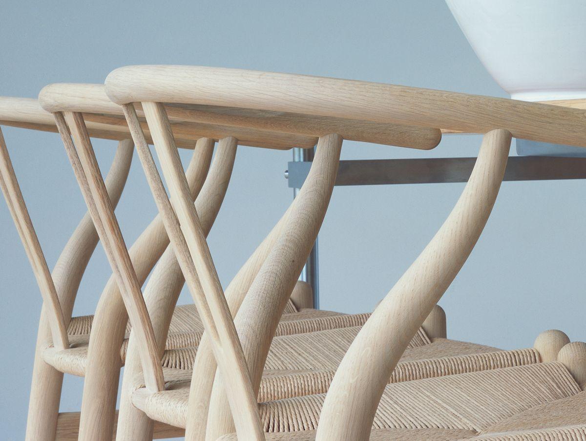 Soaped oak CH24 detail Wishbone chair