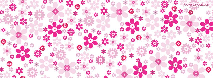 Pink Flower Pattern Facebook Cover CoverLayout.com