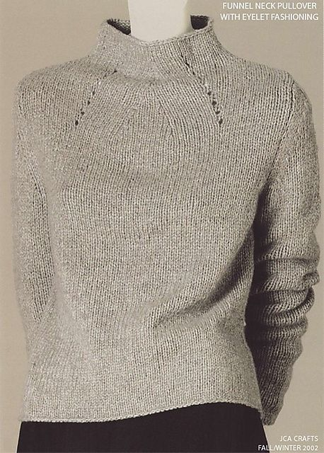 Ravelry: RobynRedBird\'s Funnel Neck Pullover Isn\'t this an Adrienne ...