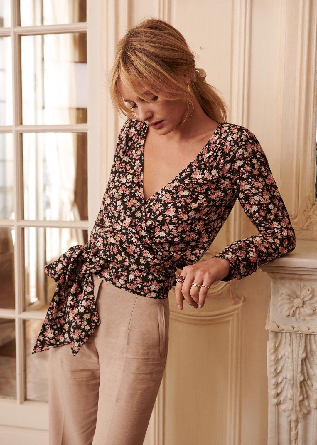 5346c2158cc8f9 Sézane - Blouse Nina   Couture   Modèles à coudre   Sewing, Blouse ...