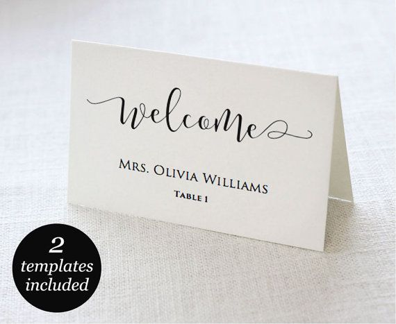 Wedding Place Cards Wedding Place Card Printable Place Card Etsy Wedding Place Cards Place Card Template Printable Wedding Sign