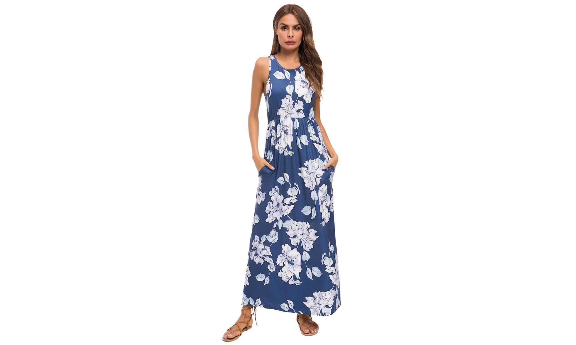Plus And Regular Sizes Lilly Posh Women S Floral Tank Casual Swing Dress With Pockets Ad Posh A Swing Dress With Pockets Swing Dress Spring Sweater Outfits [ 1200 x 2000 Pixel ]