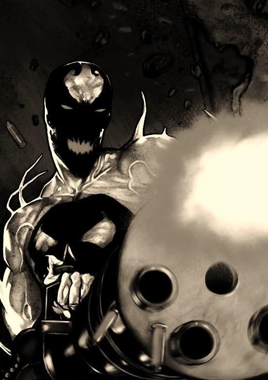 #Anti #Venom #Fan #Art. (ANTI-VENOM PUNISHER) By: Wolf11747. (THE * 5 * STÅR * ÅWARD * OF: * AW YEAH, IT'S MAJOR ÅWESOMENESS!!!™)[THANK U 4 PINNING!!!<·><]<©>ÅÅÅ+(OB4E)