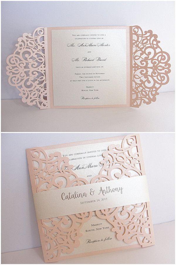 Pink Einsteckkarten Hochzeitskarten Einladungen Weddingcards