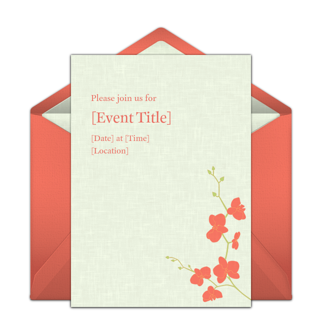 Flower Blossoms Online Invitation from Punchbowl.com