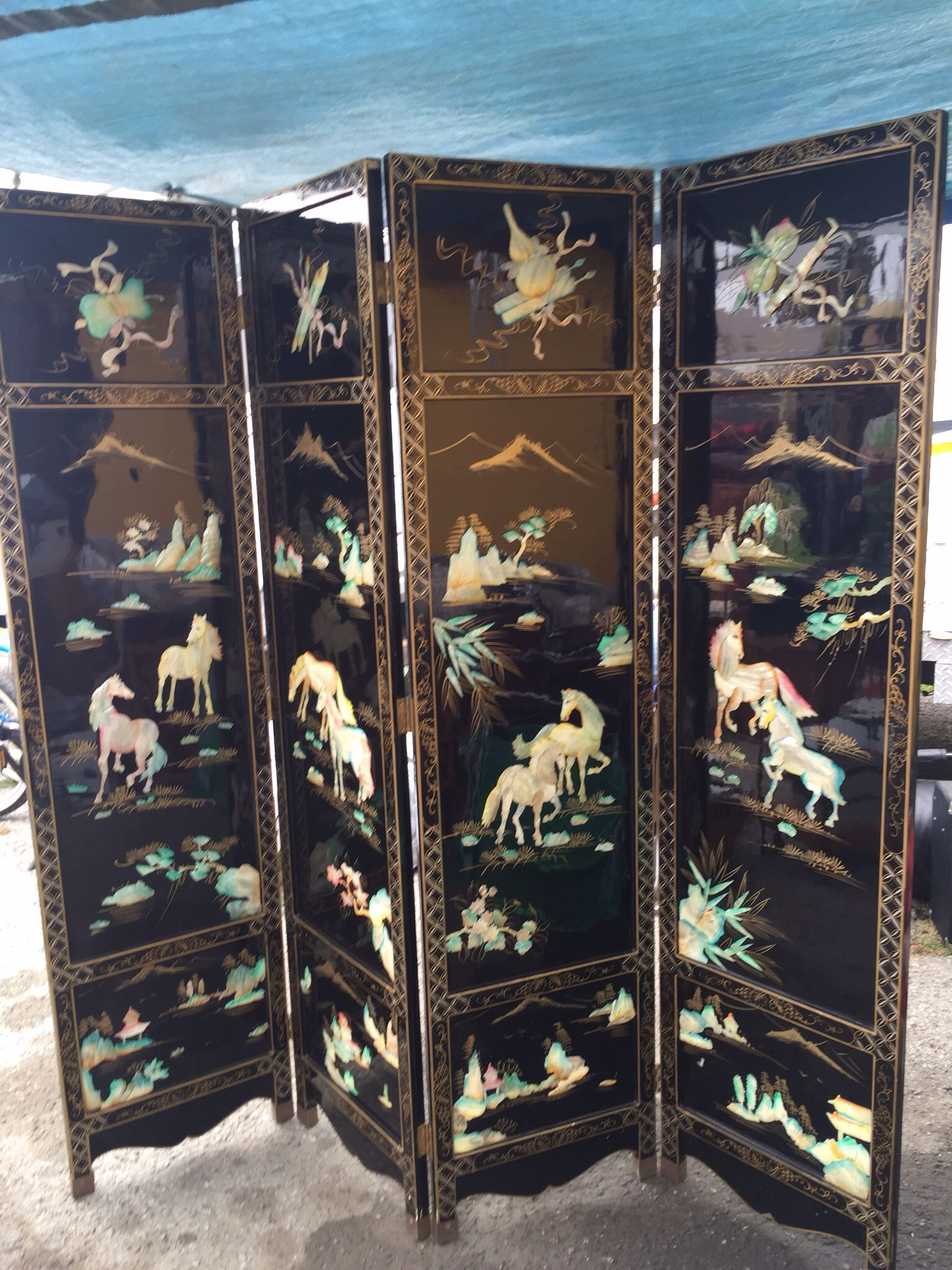 Mother Of Pearl Room Divider