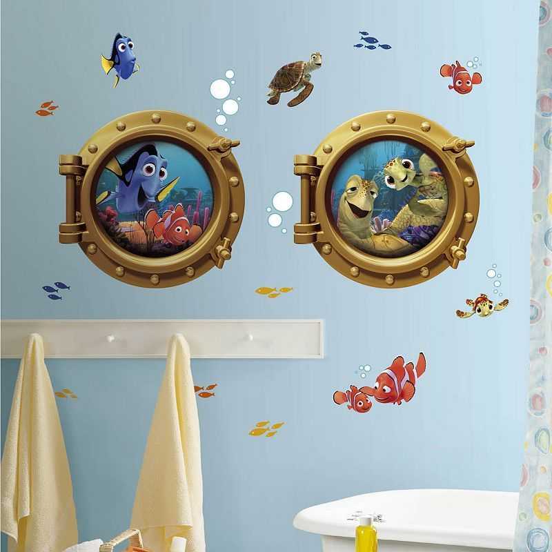 Disney Finding Nemo Peel and Stick Wall Decals, Multicolor