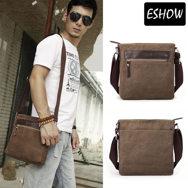 eshow herren tasche casual m nner messenger bags kleines. Black Bedroom Furniture Sets. Home Design Ideas