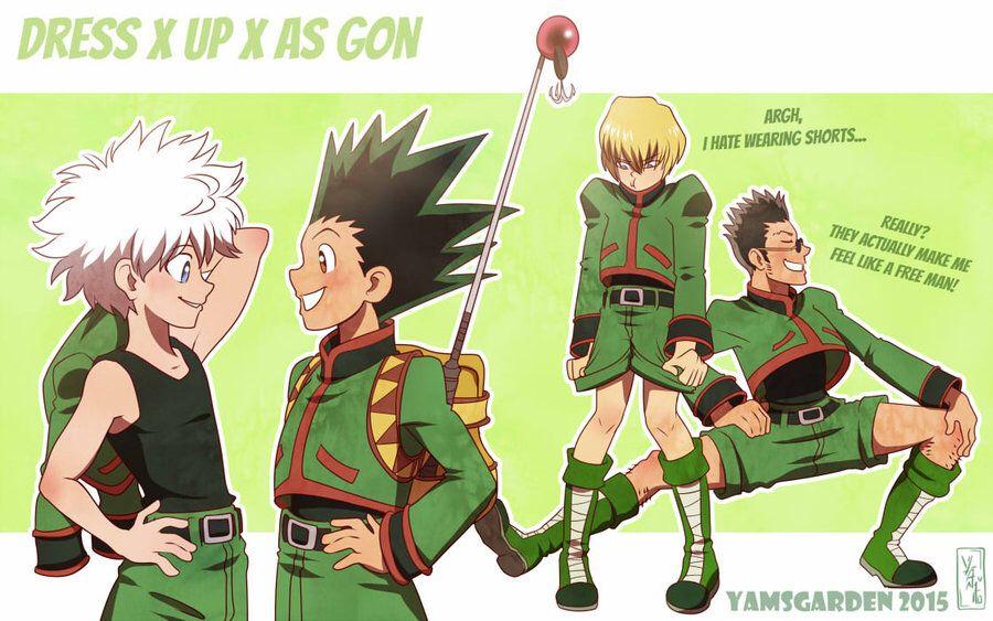 Gon clothes hunter anime hunter x hunter killua