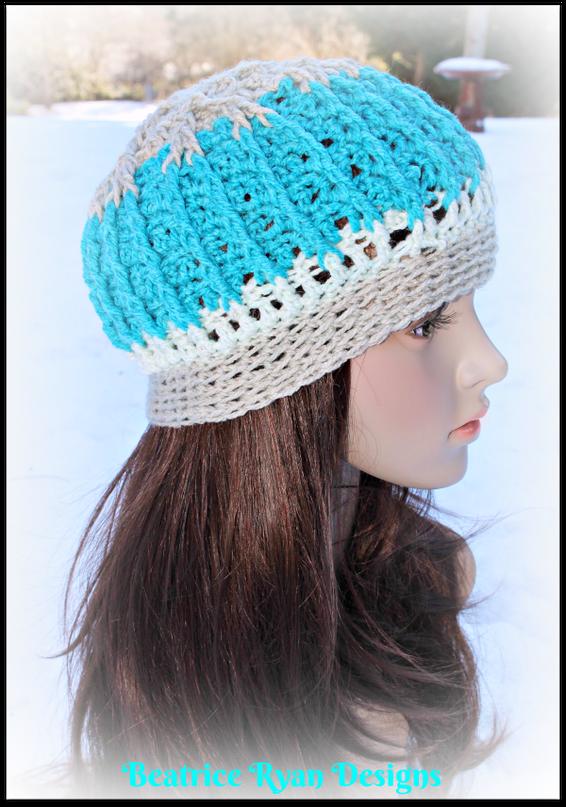 Snowy Mountain Beanie… Free Crochet Pattern | Pinterest | Tejido ...