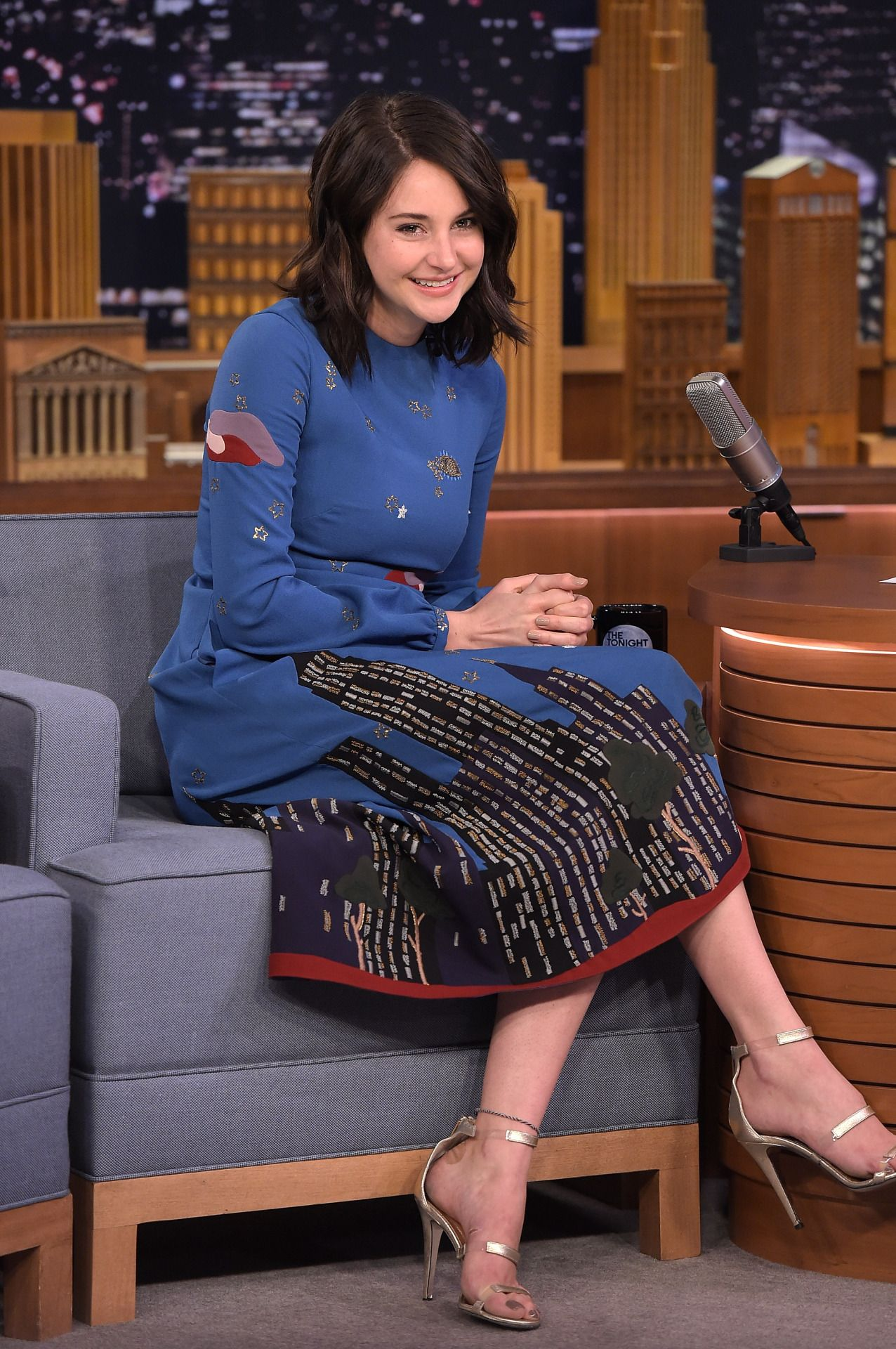 Shailene Woodley At The Jimmy Fallon New York City 14 March 2016