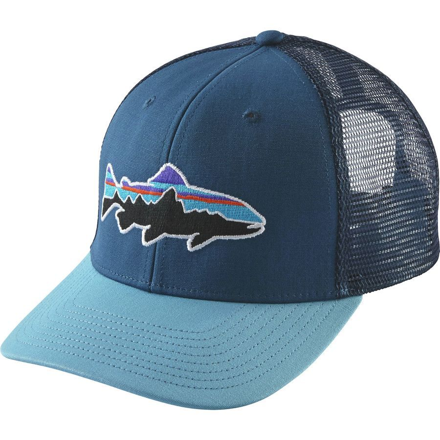 bb20f7d6ee3 Patagonia - Fitz Roy Trout Trucker Hat - Glass Blue