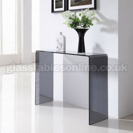 Buy Smoked Glass Console Table Compact from GlassTablesOnlinecouk