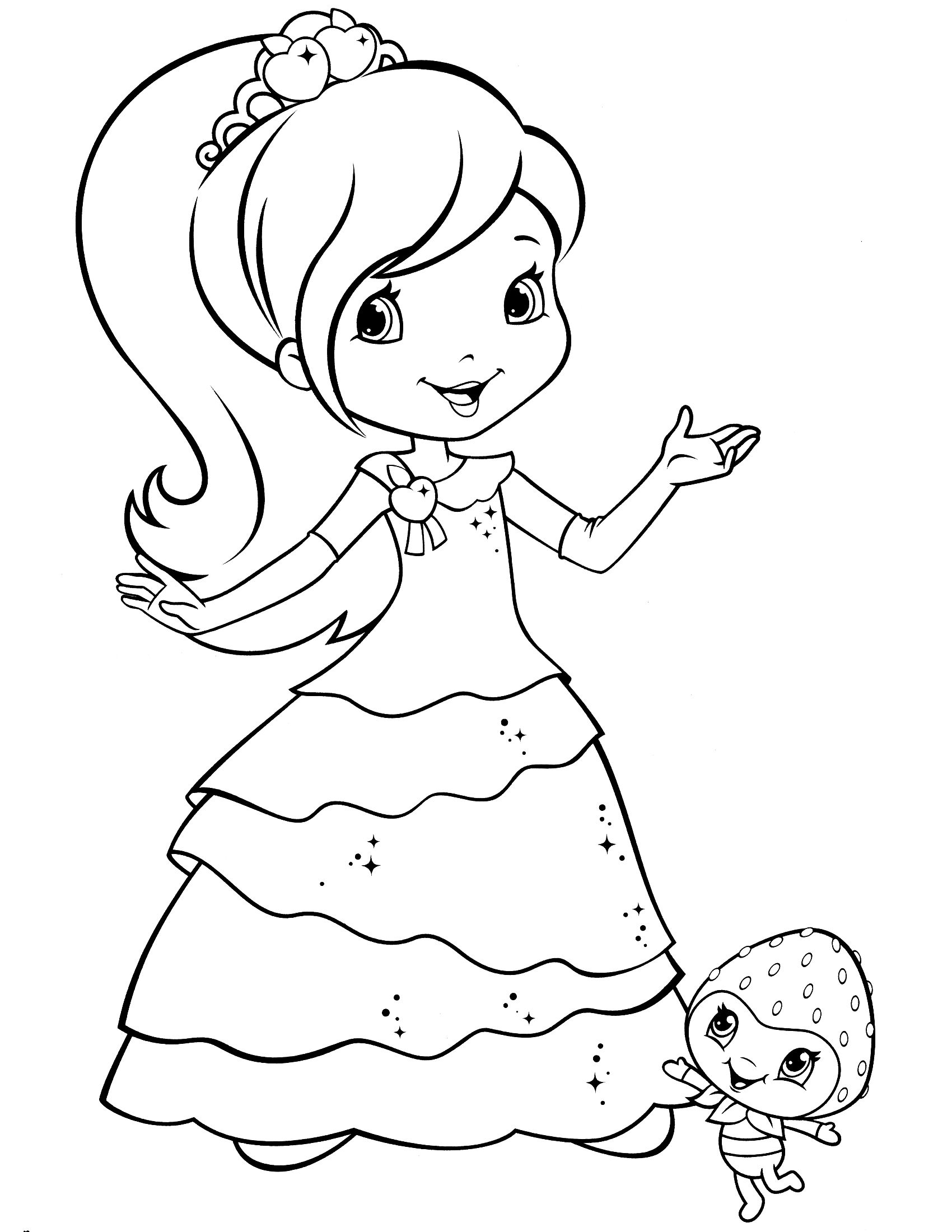 Strawberry Shortcake Coloring Page Dibujos Dibujos Para