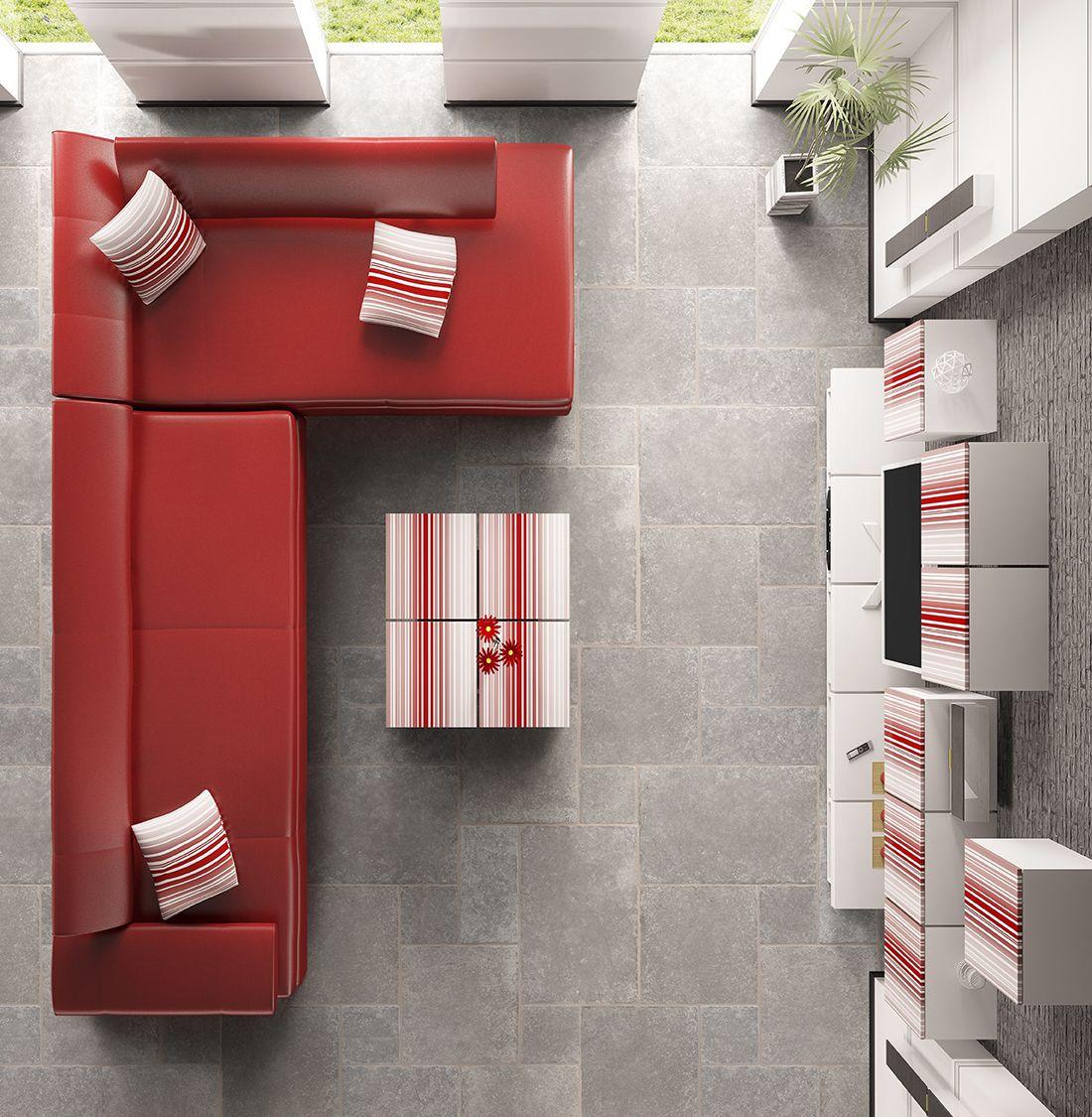 calcaire avallon gris cupa stone pierre naturelle de couleur grise avec des taches noires. Black Bedroom Furniture Sets. Home Design Ideas