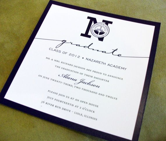 Graduation Announcements Formal Customized with your School