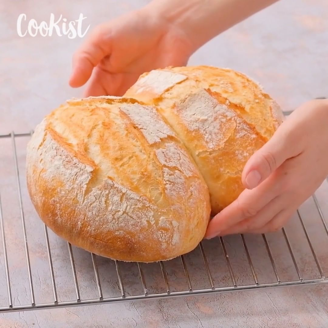 Cookist Wow On Instagram How To Make Easy Bread At Home Moist
