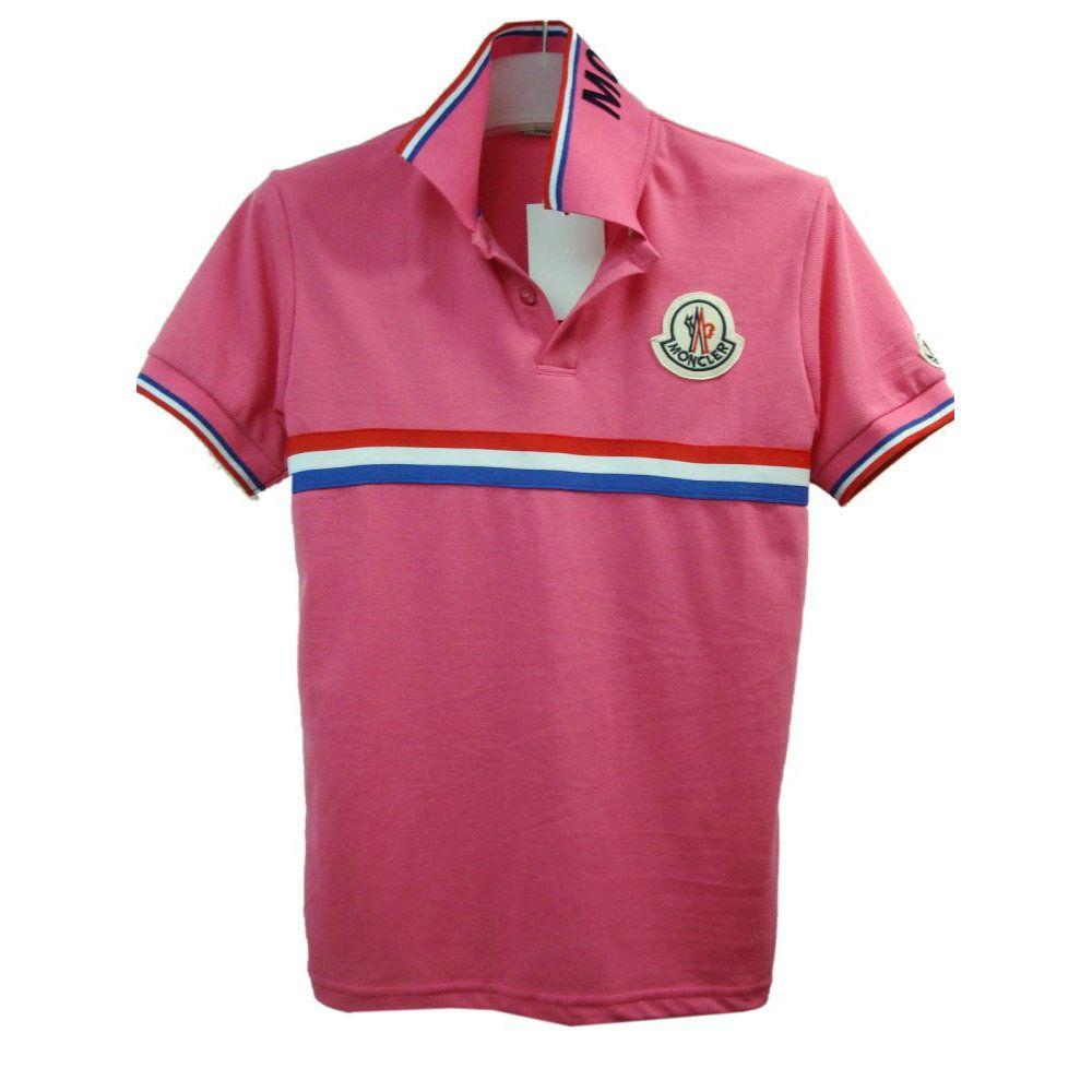 Moncler Men stand collar red T-shirt MW201503114