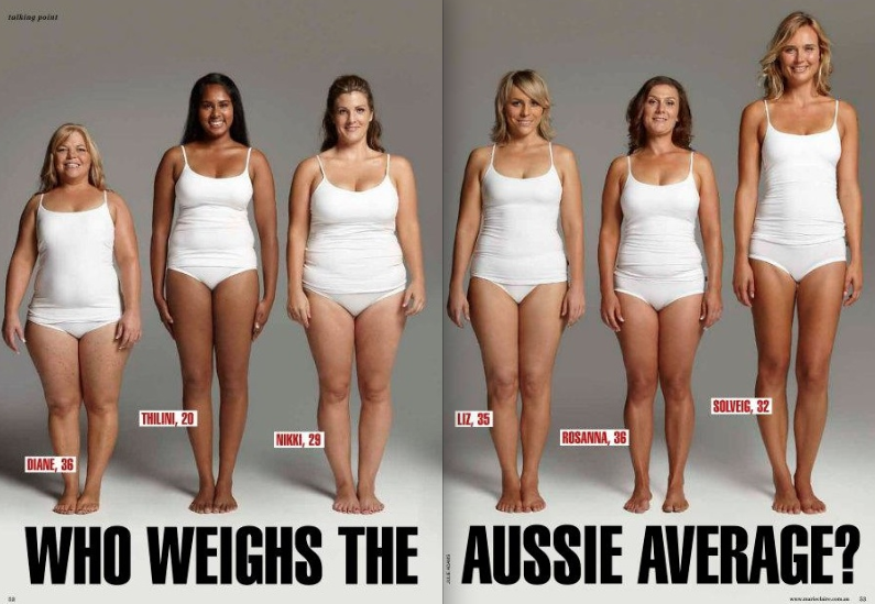 All of these ladies weigh 154lbs  We all carry weight differently