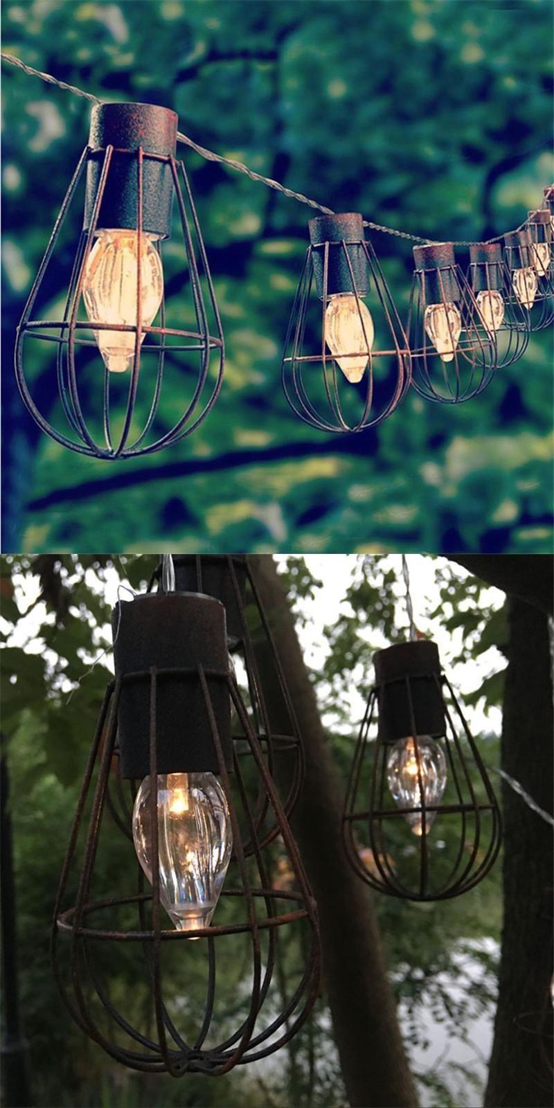 decorative solar lighting. [Visit To Buy] Led Solar Garden Light Lampe Solaire Decorative Metal String Lights 10led Lighting N