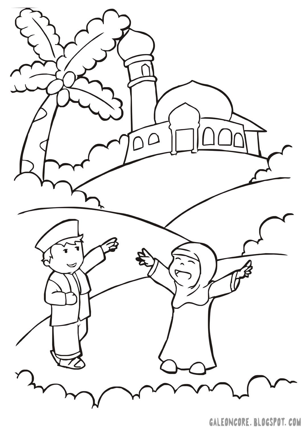 Happy Muslimah Coloring Muslim Kids Islam For Kids Ramadan