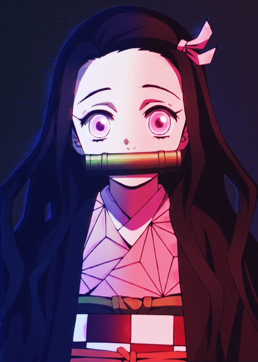 Anime Demon Slayer Nezuko Poster By Reo Anime Displate In 2021 Anime Demon Black Anime Characters Cute Anime Wallpaper