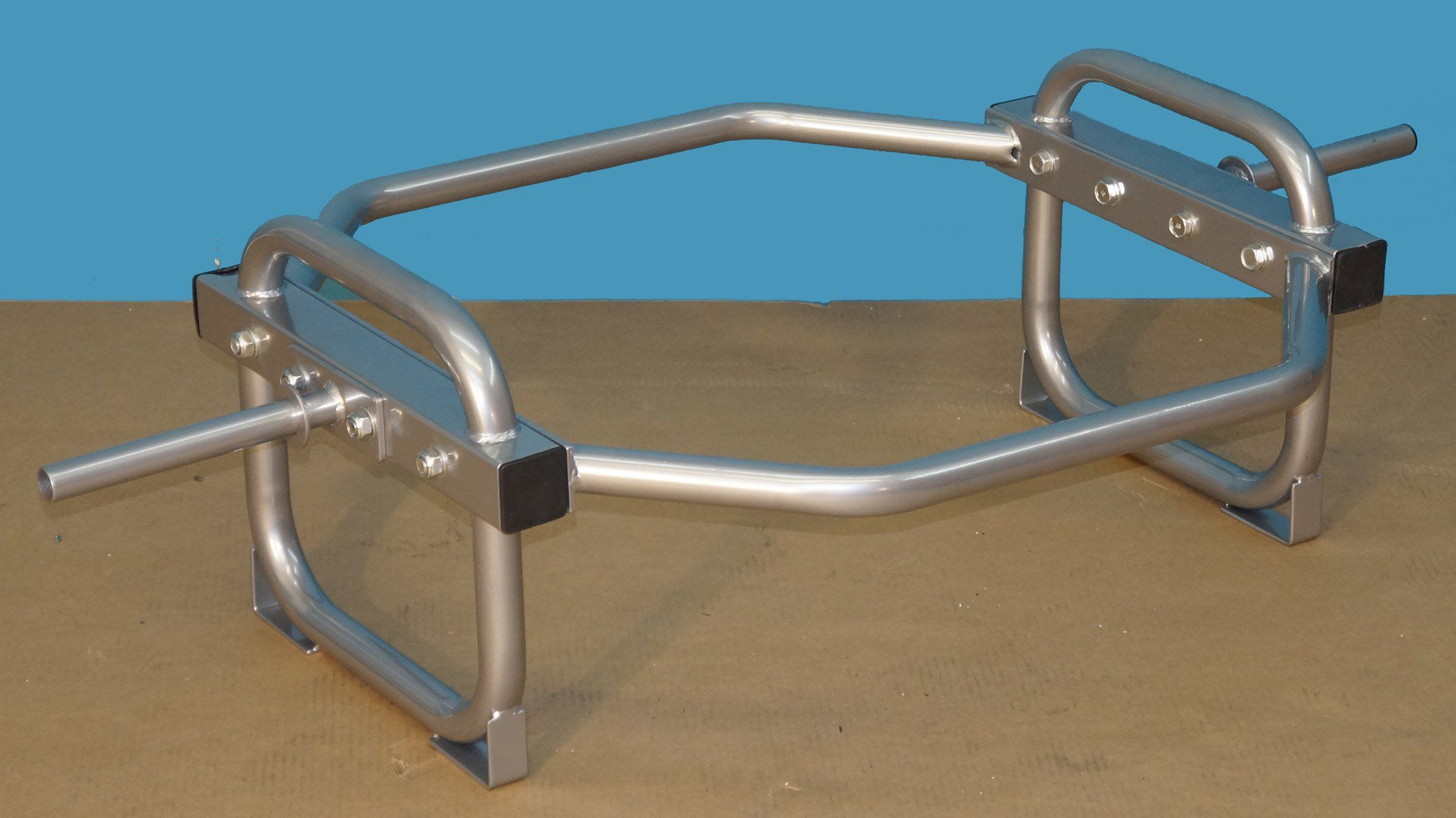 TDS Econo ShrugHip Bar with stand for Standard Plates